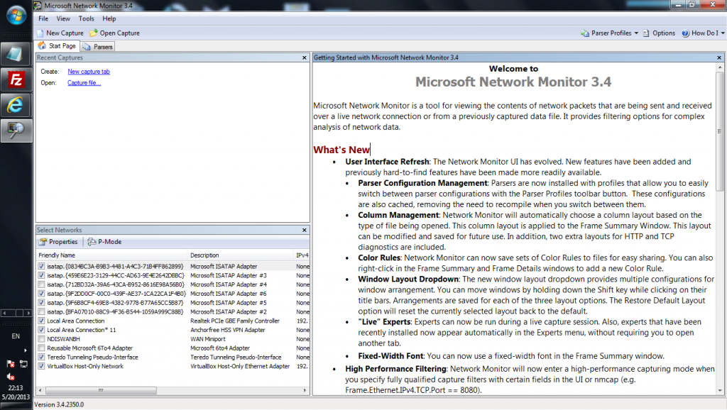 Microsoft Network Monitor 3.4