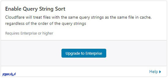 تنظیمات Enable Query String Sort
